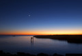 Jupiter and the Moon over Lake Pontchartrain