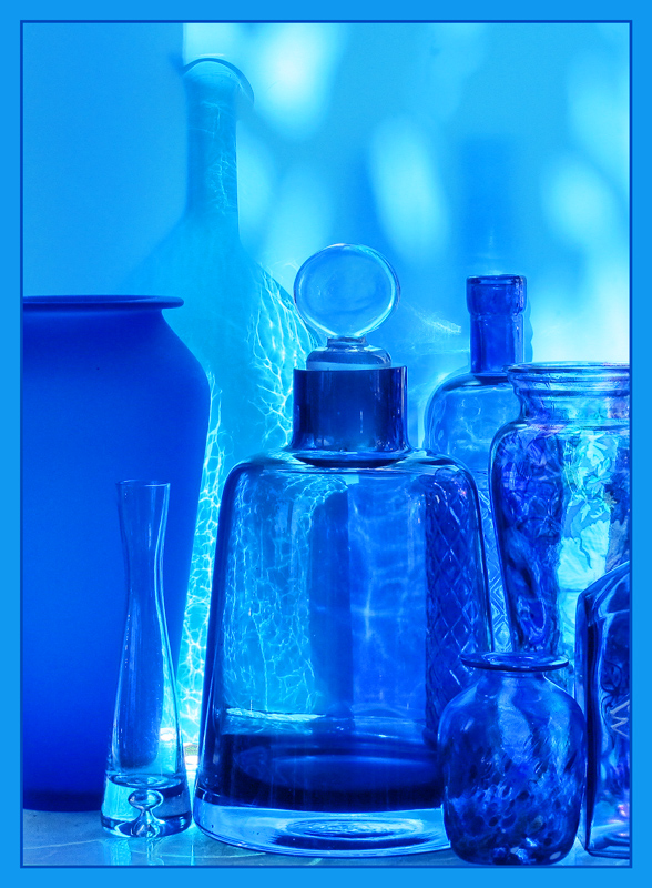 Blue Glass and Afternoon Shadows
