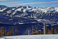 Uncluttered  view of Breckenridge from Keystone