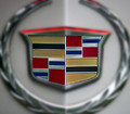 Cadillac wreath and crest inspired by Piet Mondrian