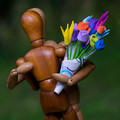 Woody's bouquet - how romantic!