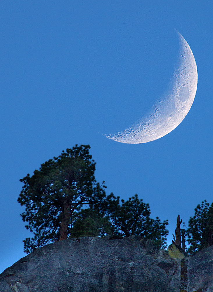 Crescent Moon Rise