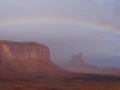 Bad weather in Monument Valley