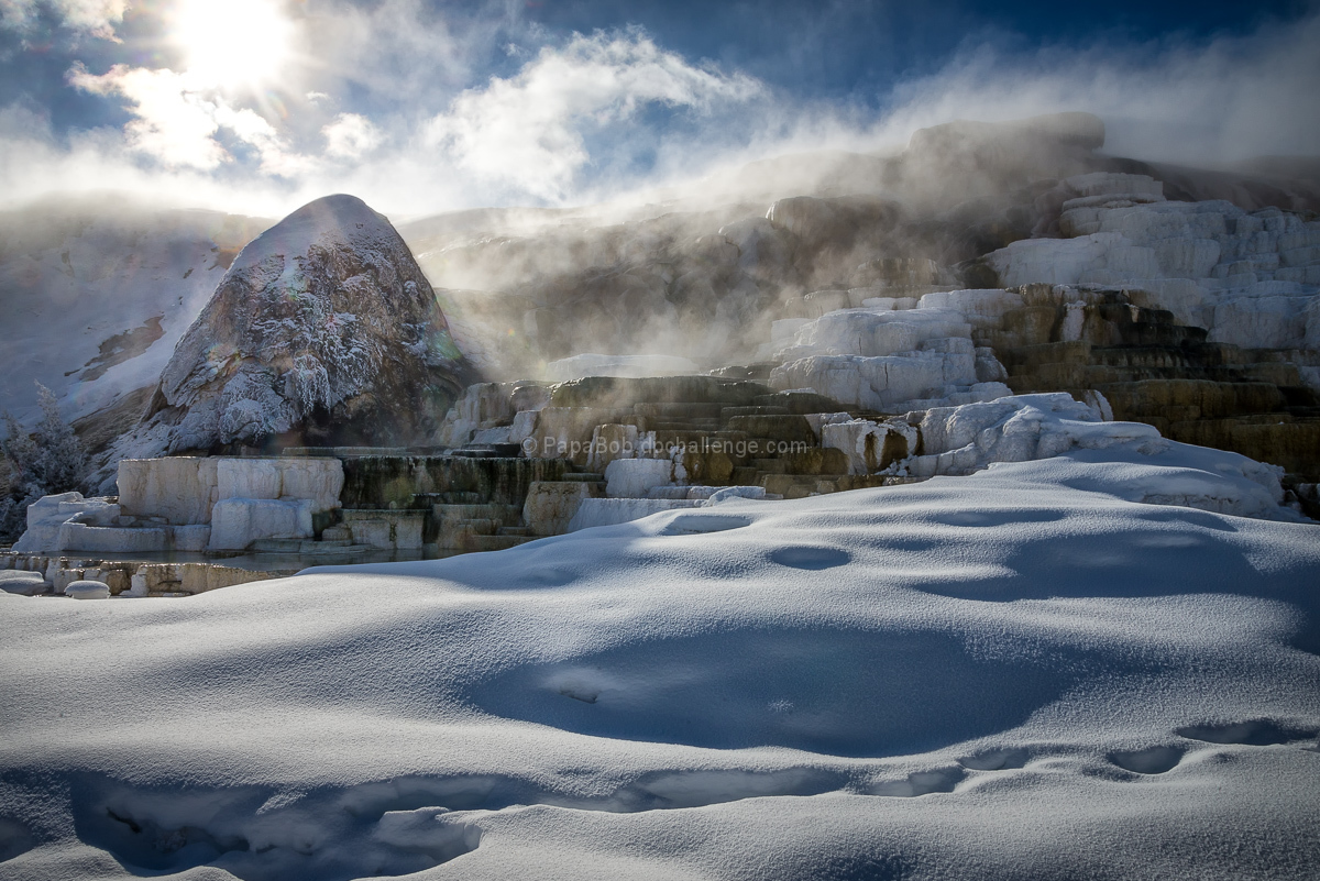 Where Hot Meets Cold - Mammoth Hot Springs