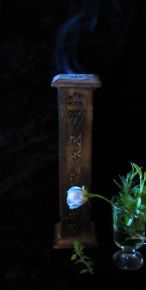 Close Your Eyes and Inhale the Calming Scents - Incense, Rose, and Aromatic Herbs