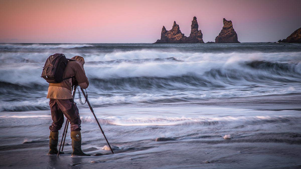 Photographer in Iceland