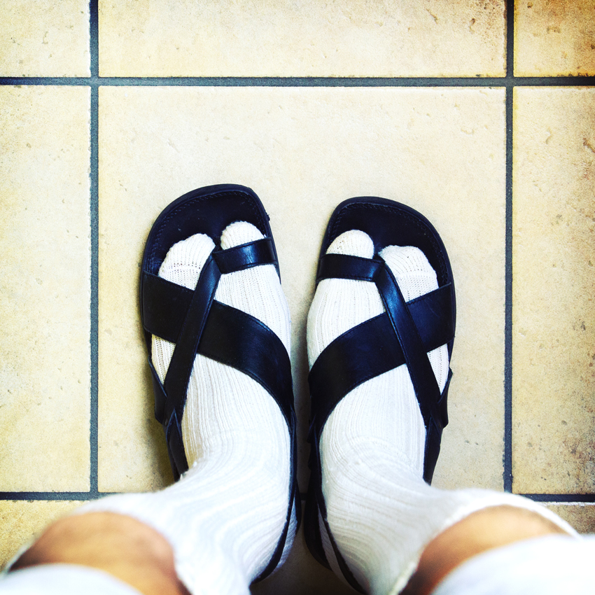 I can't stand flip flops with socks