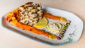 The Bean Curd Tower (with tomato&carrot walls, soy mayonnaise pond and pistachios gate)