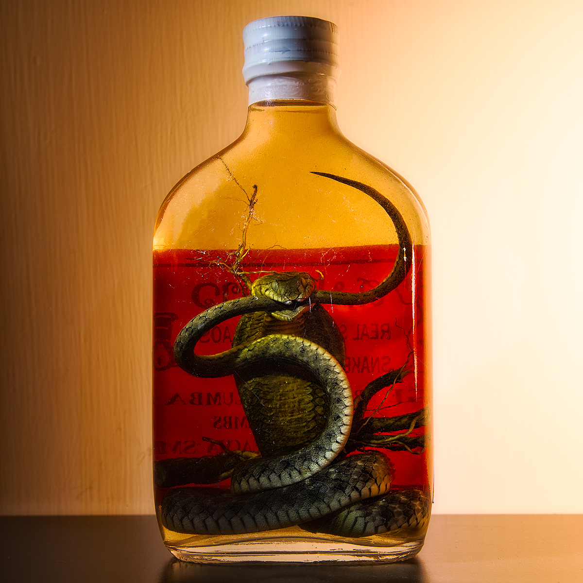 SNAKE WHISKY - RHEUMATISM, LUMBAGO - TWICE A DAY BEFORE MEAL