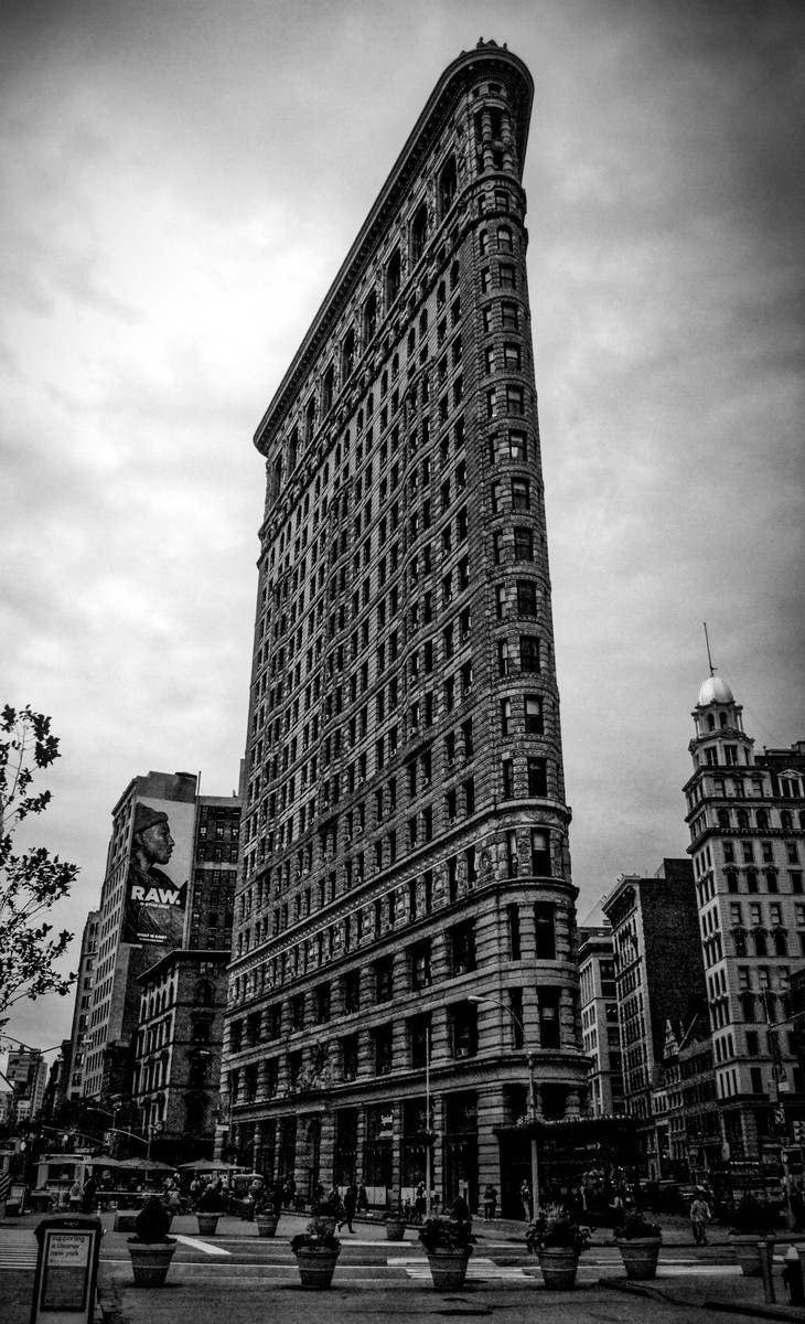 Flatiron building. Once the world's tallest building.