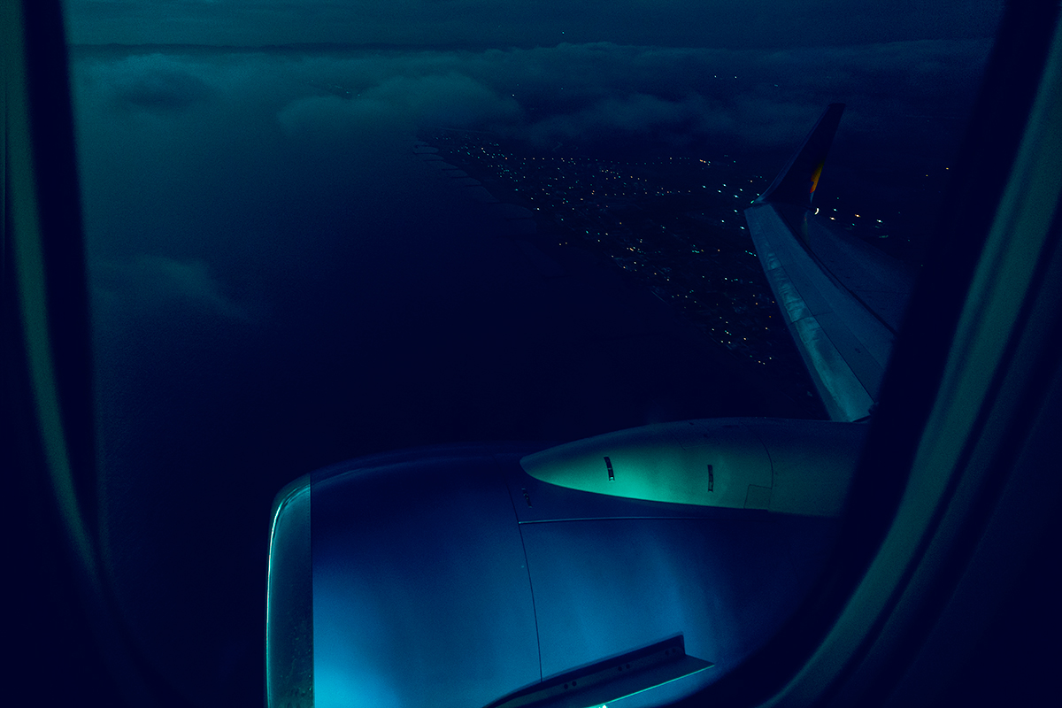 Blue hour from the sky