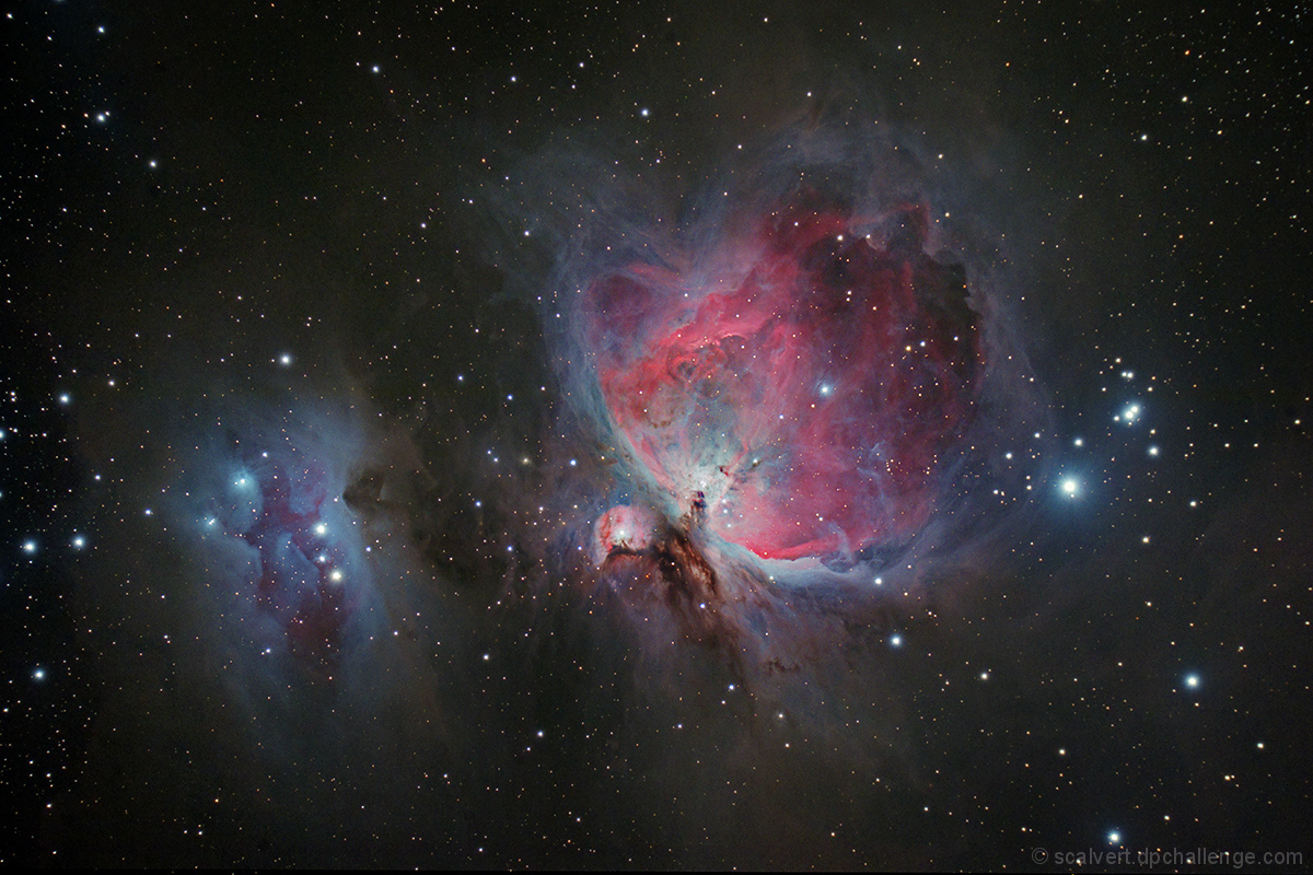Running Man and the Great Orion Nebula