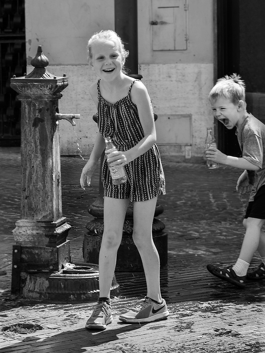a moment at the fountain