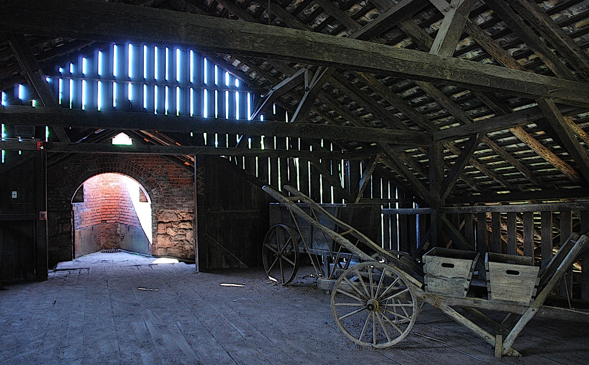 The attic of the barn