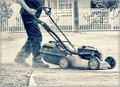 Mower of Concrete and Dirt