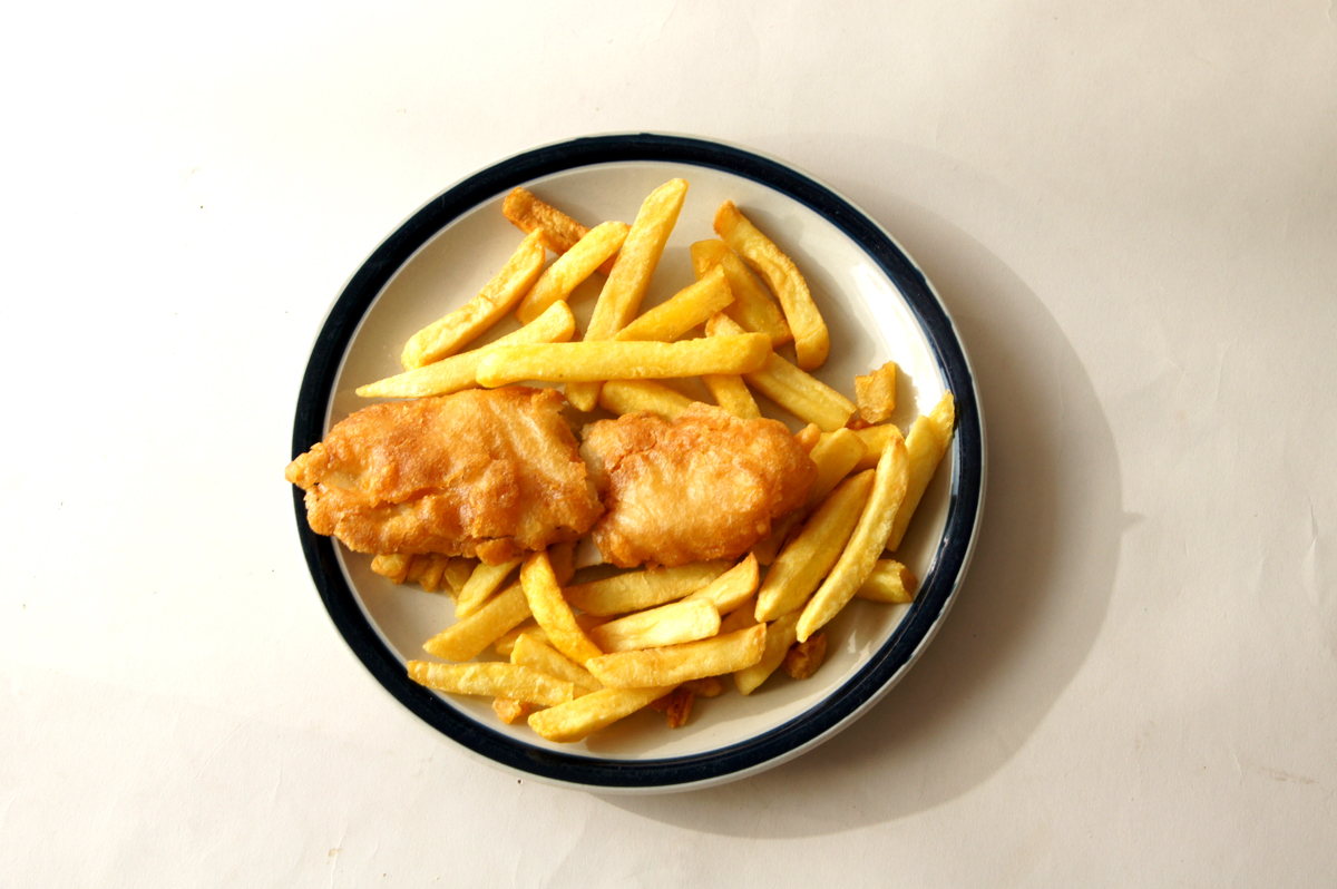 Fish and Chips, traditional takeaway food