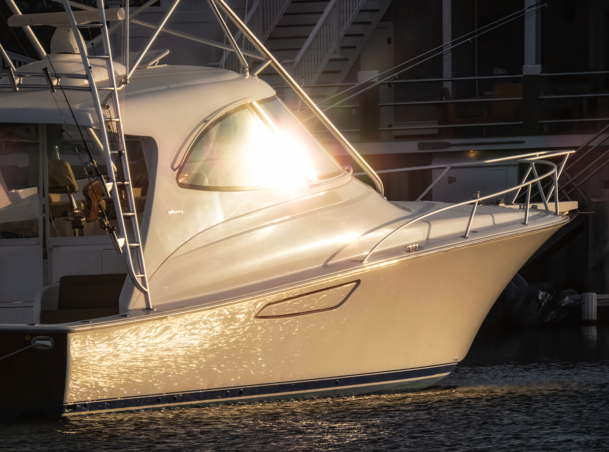 Sportboat, Wychmere Harbor, Evening Light
