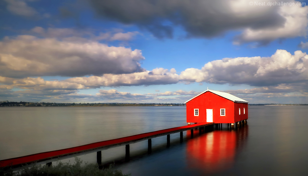 The little red boat house
