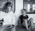 Sharing laughter on the ferry