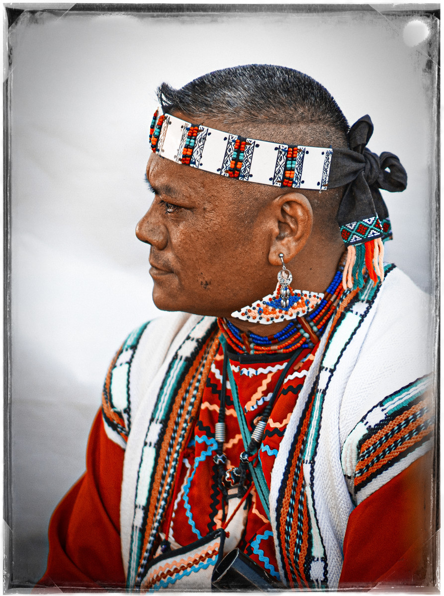 Portrait of Taiwanese Aboriginal man
