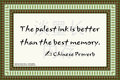 186 Chinese Proverb on Memory