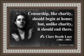 197 Clare Booth Luce on Censorship
