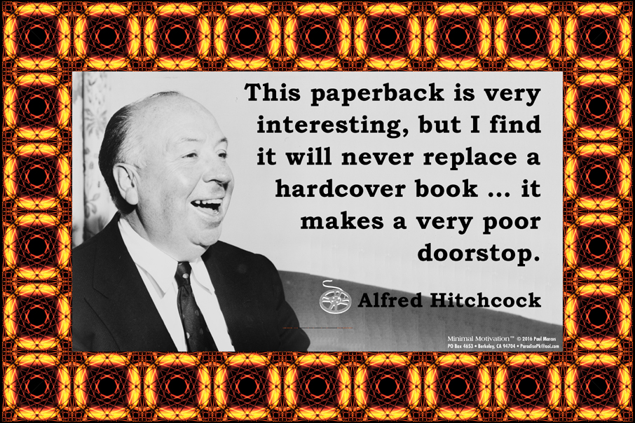028 Alfred Hitchcock on Books