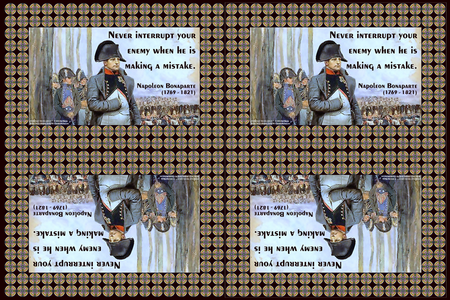140 Napoleon Bonaparte on Strategy (wallet print)