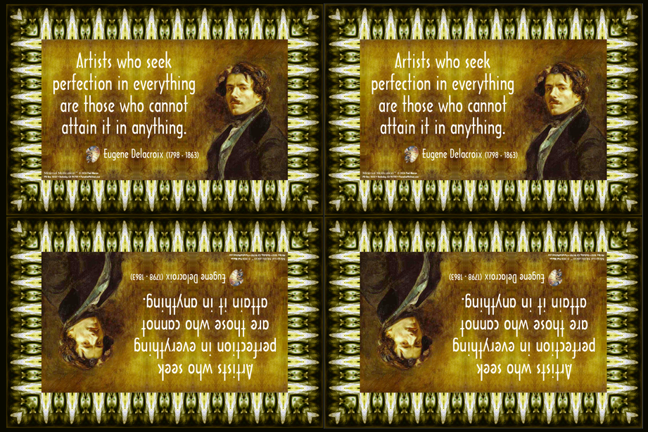 061 Eugene Delacroix on Perfection (wallet print)