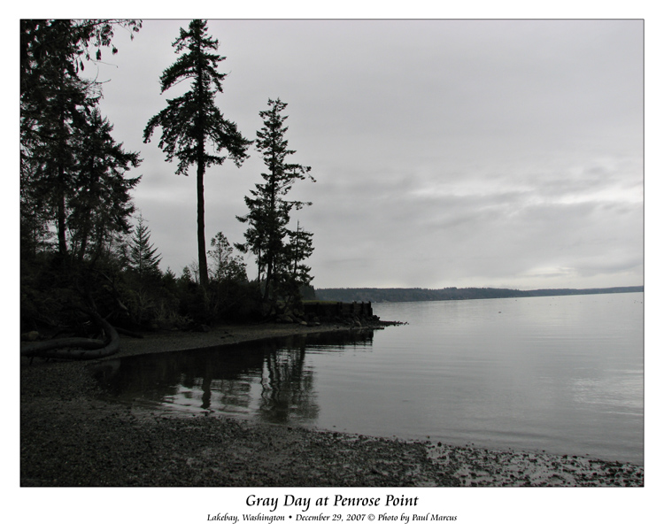 Gray Day at Penrose Point