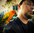 9: so, a bird landed on my shoulder