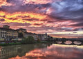 Sunset at Ponte Veccio in Florence