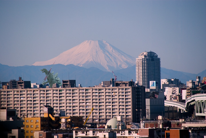 Godzilla and Mt Fuji