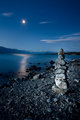 Cairn on the shore of Lake Pukaki