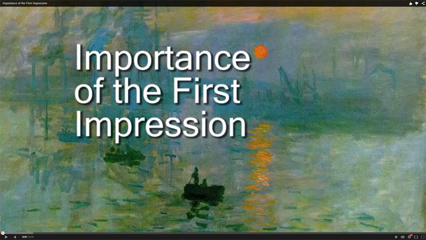 Importance of the First Impression