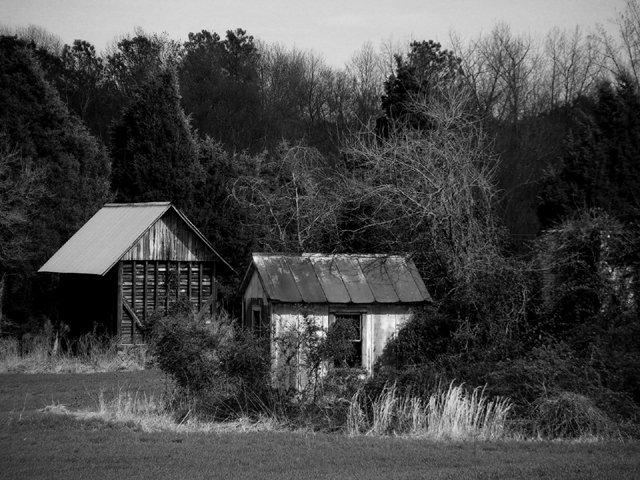 The Cabins (b&w)