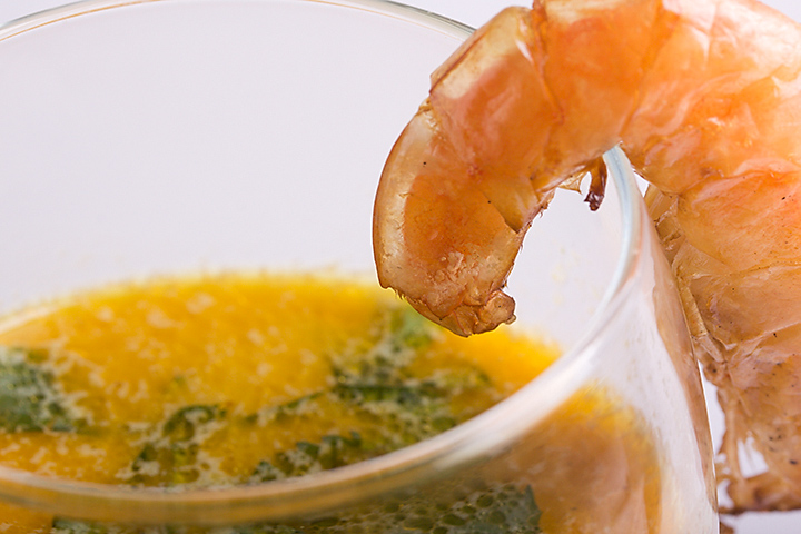 Food 17 - Coconut soup with grilled shrimp